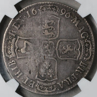 1696-E NGC F 15 Exeter Silver 1/2 Crown GREAT BRITAIN Coin POP 1/1 (18090203C)