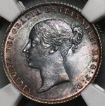 1859 NGC MS 63 Victoria Silver 6 Pence GREAT BRITAIN Coin POP 4/7 (17062904C)