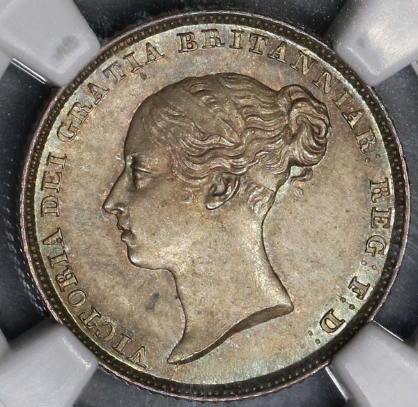 1838 NGC MS 64 Victoria Silver 6 Pence GREAT BRITAIN 1st Year Coin (17122801D)