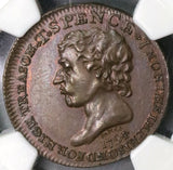 1794 NGC UNC SPENCE & INDIAN 1/2 Penny Conder Token Middlesex DH 684 (18090402CZ)