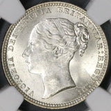 1868 NGC MS 63+ Silver Shilling Victoria GREAT BRITAIN Coin Die 28 (16122906D)
