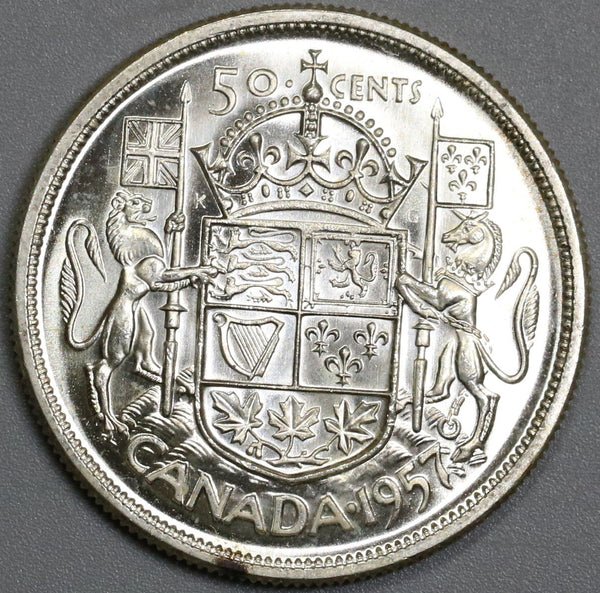 1957 CANADA Silver 50 Cents BU Coin (18041905RE)