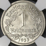 1933-E NGC MS 65 GERMANY 1 Mark 3rd Reich Coin POP 1/0 (17102603C)