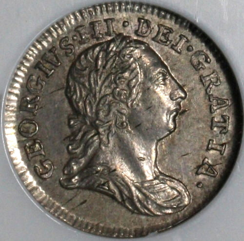1784 NGC AU 58 George III Pence Great Britain Silver Coin POP 4/2 (18062801C)