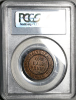 1918-I PCGS XF 45 Australia 1/2 Penny George V Bombay Mint Key Date Coin (20010702C)