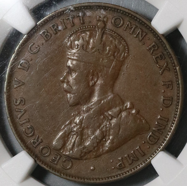 1925 NGC VF 35 Australia Penny Scarce George V Britain Empire Coin (20101101C)