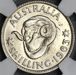 1963 NGC MS 66 Australia Shilling Last Year Silver Coin (19010604C)