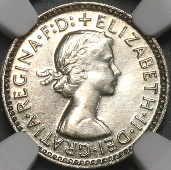 1963 NGC PF 67 AUSTRALIA 3 Pence Proof Silver Coin Top Pop 11/0 (18060701C)