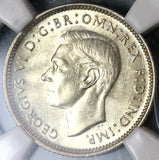 1938 NGC MS 62 Australia 6 Pence George VI Silver Coin (19100302C)