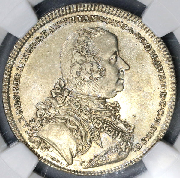 1765 NGC AU 50 Batthyani 1/2 Thaler Austria State Hungary Silver Coin POP 1/0 (19032002C)