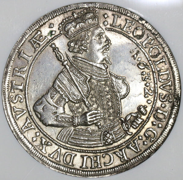 1632 NGC MS 62 Austria Taler Hall Mint Silver Thaler Coin (18120603C)