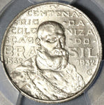 1932 PCGS MS 64 Brazil 2000 Reis Coin Discovery John III Silver Coin (20011302C)