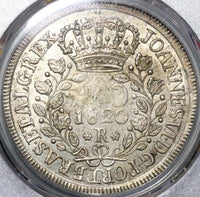 1820-R PCGS MS 63 Brazil 960 Reis Overstruck Bolivia 1800 8 Reales (20080201D)