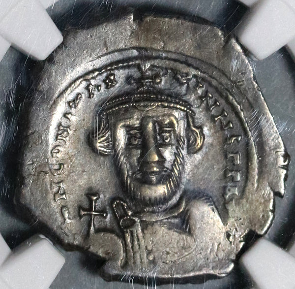 641 NGC Ch VF Constans II Hexagram Byzantine Silver Pedigree Coin (20052201C)