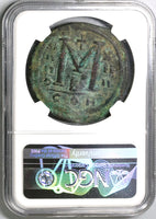 540 Justinian I Byzantine Empire Dated Follis Constantinople Mint NGC VF (19081201C)