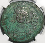 539 Justinian I Byzantine Dated Follis Antioch Mint Year 13 NGC VF Pedigree (20012802C)