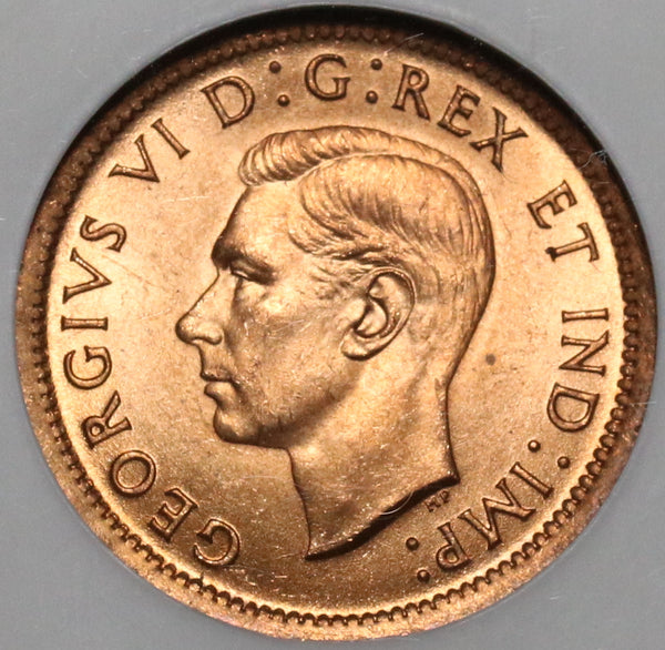 1939 NGC MS 64 RD Canada 1 Cent George VI Mint State Red Coin (20030203C)