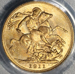 1911-C PCGS MS 64 Gold Sovereign Canada St George Coin (19020302C)