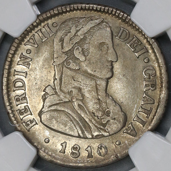 1810 NGC XF 45 Chile 2 Reales Imaginary Bust Spain Silver Coin (19030901C)