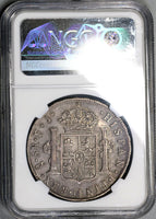 1809-So NGC XF 40 Chile 8 Reales Imaginary Bust Spain Colony Silver Coin (19060201C)