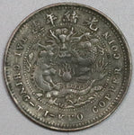1906 Hupeh Province 5 Cash Rare Contemporary Counterfeit Imperial China Dragon Coin (19092602R)