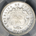 1917 PCGS MS 66 Costa Rica 10 Centavos Mint State Silver Coin (19081601D)