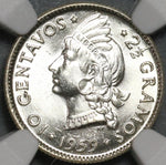 1959 NGC MS 64 Dominican Republic Silver 10 Centavos Scarce Coin (21031801C)