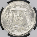 1952 NGC MS 65 Dominican Republic Peso 20K Minted Silver Coin (17102601D)