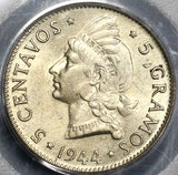 1944 PCGS MS 63 Dominican Republic Silver 5 Centavos Coin (19012901C)