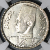 1937 NGC MS 64 Egypt 10 Piastres Farouq Silver Mint State Coin (20101201C)