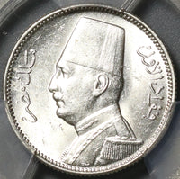 1929-BP PCGS MS-63 Egypt Silver 2 Piastres Fuad I AH 1348 Coin (21022301C)