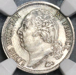 1823-A NGC MS 64 France 1/2 Franc Louis XVIII Silver Coin POP 3/0 (19050701D)