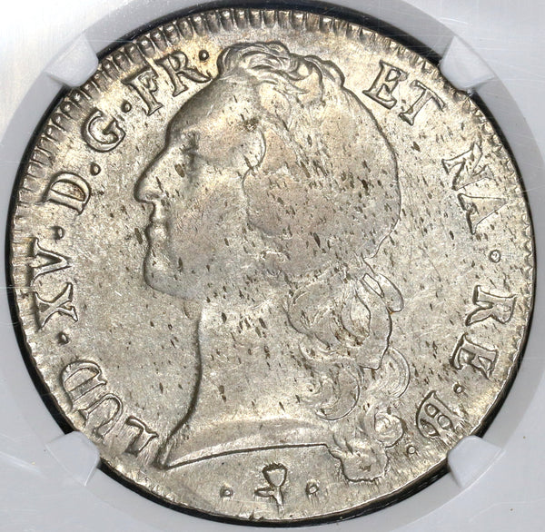 1770 NGC XF 40 France Louis XV Ecu Bern Cow Crown Coin POP 1/0 (19031802C)