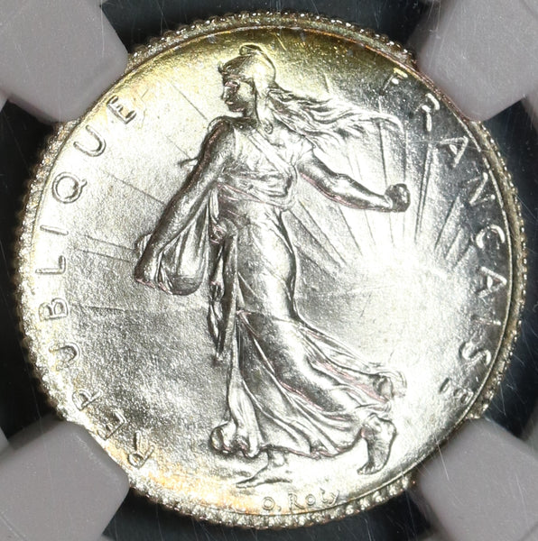 1916 NGC MS 65 France 1 Franc Sower Mint State Silver Coin (19100402C)