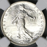 1918 NGC MS 64 France 1 Franc Sower Silver Mint State Coin (19060401C)