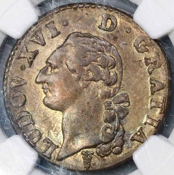 1791-K NGC MS 63 Louis XVI France Sol Mint State Royal Coin POP 2/0 (19030903C)