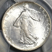 1916 PCGS MS 65 France 2 Francs Sower Silver Mint State GEM Coin (20121602C)