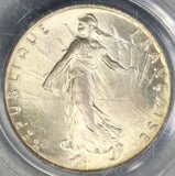 1919 PCGS MS 66 France 50 centimes BU Silver Sower Coin (19061601C)