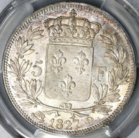 1827-D PCGS MS 63 France Charles X 5 Francs Mint State Silver Coin POP 1/0 (19041001C)