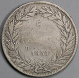 1831-D France 5 Francs Louis Philippe I Silver Lyon Mint Crown Coin (19081003R)