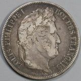1832-M France 5 Francs Louis Philippe I Silver Toulouse Mint Scarce Crown Coin (19081009R)