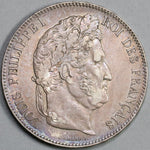1832-T France 5 Francs Louis Philippe I Silver Nantes Mint Crown Coin (19081010R)