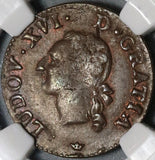 1789-M NGC XF 45 France Liard Louis XVI Toulouse Mint Coin (20061803C)
