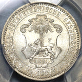1891 PCGS MS 66 German East Africa 1/2 Rupie Mint State Silver Coin (20110503C)