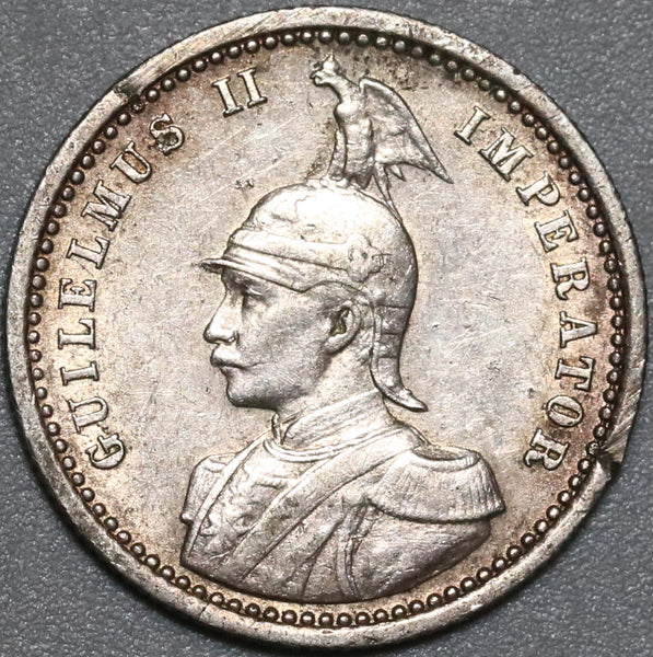 1906-A German East Africa 1/4 Rupie VF Silver Wilhelm II Scarce Colonial Coin (21032201R)