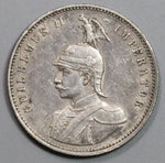 1910-J German East Africa Rupie Wilhelm II Colonial Silver Coin (19011201RE)