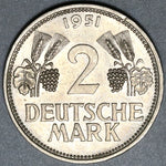 1951-D Germany 2 Mark UNC Coin (20072702R)