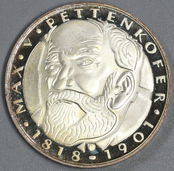 1968-D Germany 5 Mark Proof Pettenkofer Silver Munich Coin (19062404R)