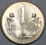 1960 Polar Bear Greenland 1 Krone Choice UNC Coin (20111501R)