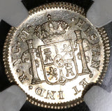 1821 NGC MS 64 Guatemala 1/2 Real Spain Colony Silver Coin (20052602C)